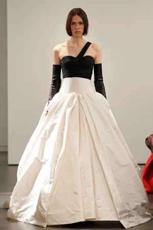 vera wang bridal fashion week spring summer 2014 asymmetric black bodice