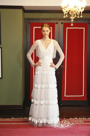 temperley orchid wedding dress and amantha lace jacket bridal fashion week ss14