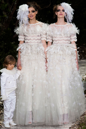 chanel wedding dress couture ss13