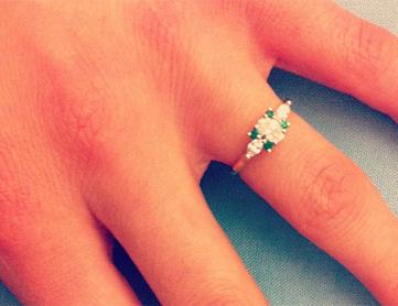 elle wedding blog the ring