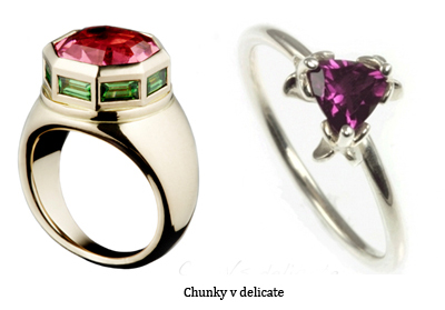 bespoke chunky ring bespoke delicate ring