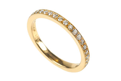 r0385 776 005 yellow gold diamond set wedding band 2 100