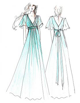 Gallery For gt Bridesmaid Dress Sketch
