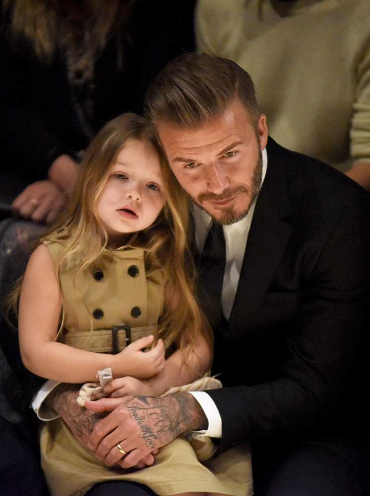 Photo of David Beckham & his  Daughter  Harper Seven