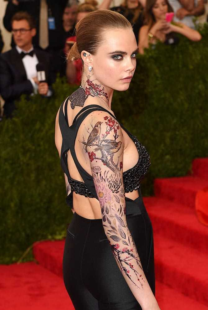 Celebrity Tattoos Gossip Cara Delevingne Showed Off Her Temporary Body Art
