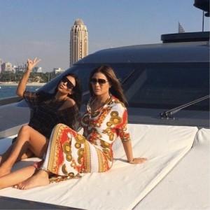 Kim Kardashian takes Dubai