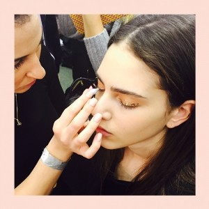 AW15 Backstage Beauty: LFW Day 3