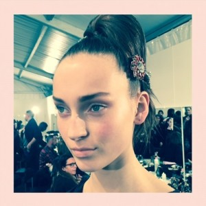 AW15 Backstage Beauty: MFW Day 2