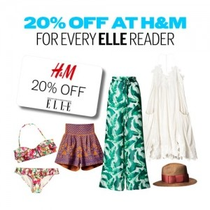 20% OFF At H&M For Every ELLE Reader