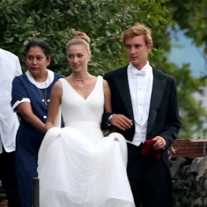 See the Stunning Armani Wedding Gown Beatrice Borromeo Wore for This Weekend's Second Ceremony