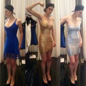 Butch Lesbian Model Works It In A Hervé Léger Dress