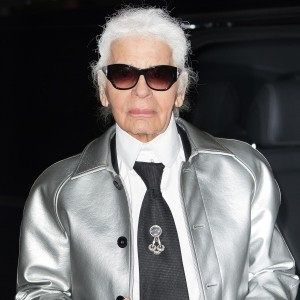 Backstage With Karl Lagerfeld At The British Fashion Awards
