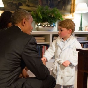 When Prince George Met The Obamas At The Palace