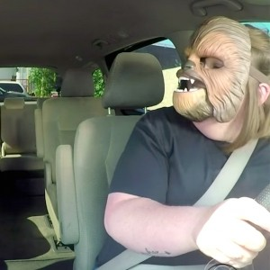 The Chewbacca Mask Woman Got to Drive James Corden to Work in Return for Breaking the Internet